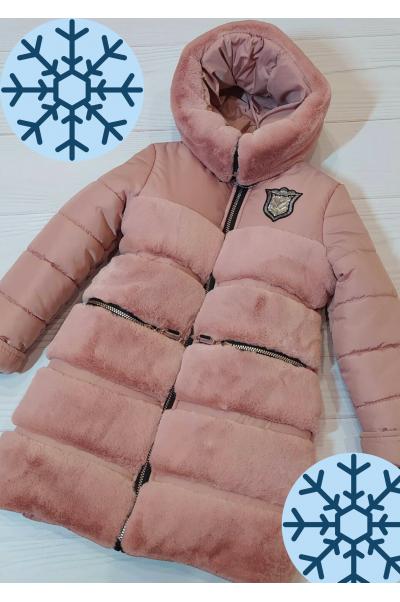 Зимняя куртка АВРОРА д/дев. (св.пудра)