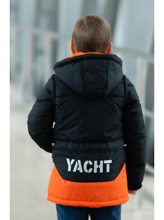 Куртка БОНО демисезонная д/мал (графит+оранжевый)