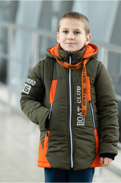 Куртка БОНО демисезонная д/мал (хаки/оранжевый)