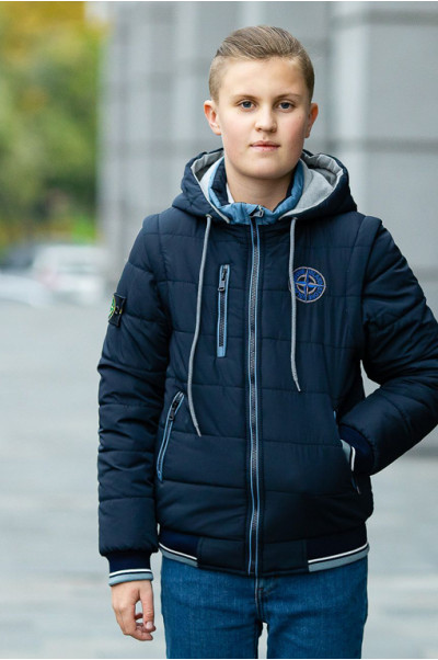 Куртка ДОННИ демисезонная д/мал (синий/голубой)