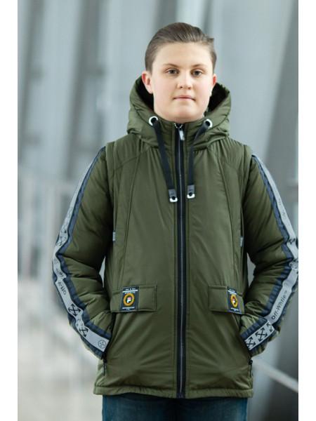 Куртка ОЛИВЕР демисезонная д/мал (хаки)
