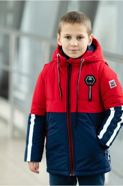Куртка ФРЕД демисезонная д/мал (красный/синий)