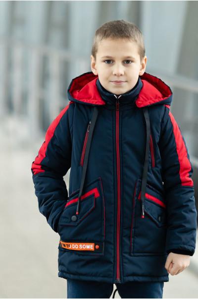 Куртка СМАРТ демисезонная д/мал (синий/красный)