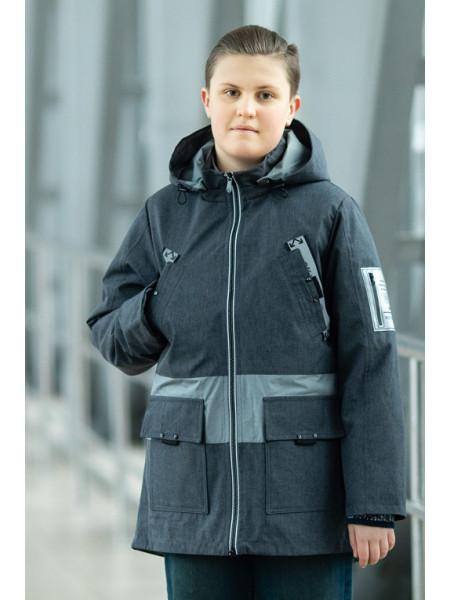 Куртка СТИВЕН демисезонная д/мал (графит)