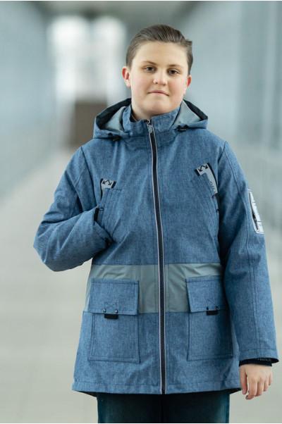 Куртка СТИВЕН демисезонная д/мал (джинс)