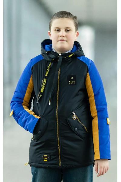 Куртка СЭМЮЭЛ демисезонная д/мал (черный/желтый/голубой)
