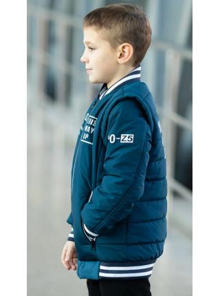 Куртка ВИЛЬФ демисезонная д/мал (джинс)