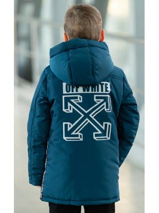 Куртка ОЛАФ демисезонная д/мал (джинс)