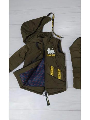 Куртка 7937-1 ДАНИС демисезонная д/мал (хаки)