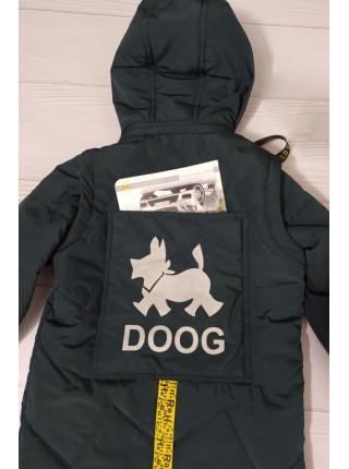 Куртка ДАНИС демисезонная д/мал (бутылочный)