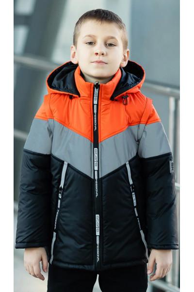 Куртка СВЕН демисезонная д/мал (черный/оранжевый)