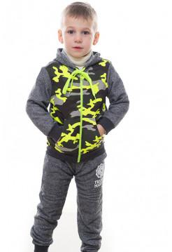 Детский спортивный костюм УСТИН д/мальч. (серый+желтый)