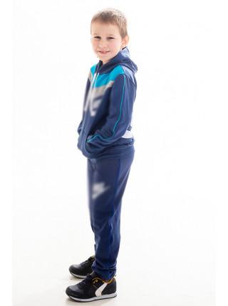 Детский спорт.костюм АВЕНИР д/мальч. (джинс+голубой)