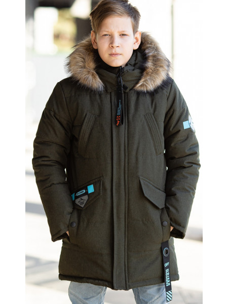 Зимняя куртка СКОР д/мальч. (хаки)