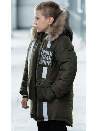 Зимняя куртка МАКЕЙ д/мальч. (хаки)