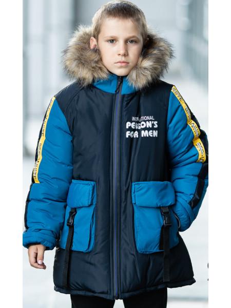 Зимняя куртка ПРЕСТОН д/мальч. (синий/джинс)