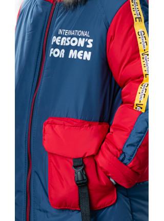 Зимняя куртка ПРЕСТОН д/мальч. (джинс/красный)