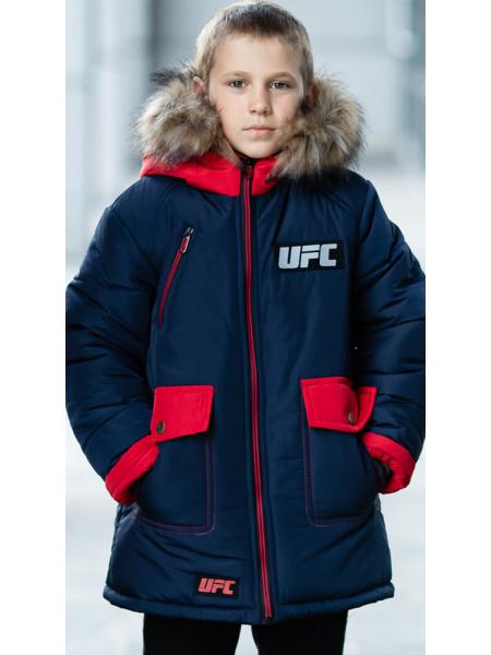 Зимняя куртка ФОСС д/мальч. (синий+красный)