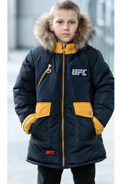 Зимняя куртка ФОСС д/мальч. (черный+желтый)