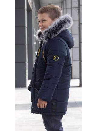 Зимняя куртка НОЛТ д/мальч. (синий+желтый)