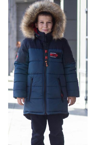 Зимняя куртка РОК д/мальч. (мор.волна)