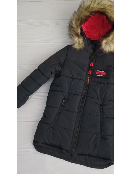 Зимняя куртка РОК д/мальч. (черный)