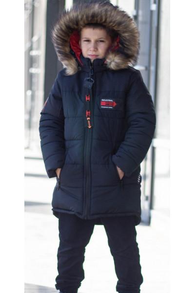 Зимняя куртка РОК д/мальч. (синий)