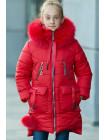 Зимнее пальто ДАЯНА д/дев (красный)