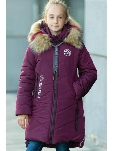 Зимняя куртка МАДЛЕН д/дев (бордовый)