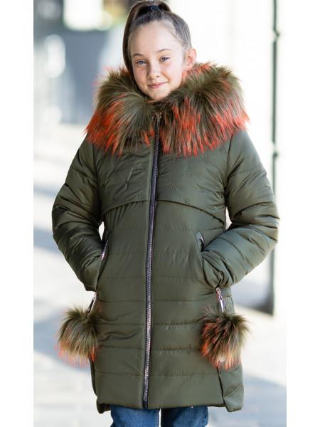 Зимняя куртка БЕТТИ д/дев. (хаки)