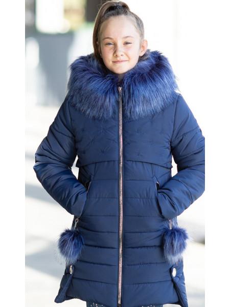 Зимняя куртка БЕТТИ д/дев. (синий)