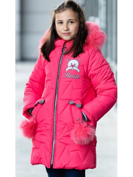 Зимняя куртка БРИАНА д/дев. (ягодный)