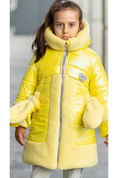 Зимняя куртка ВОЛЛИ д/дев. (желтый)