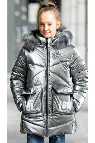 Зимняя куртка ФЕЛЛ д/дев. (серебро)