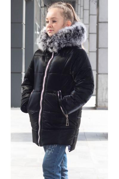 Зимняя куртка ИЗИ д/дев. (т.синий)