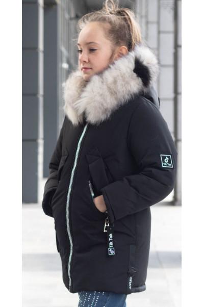 Зимняя куртка ЛИ-ЭНН д/дев. (т.синий)
