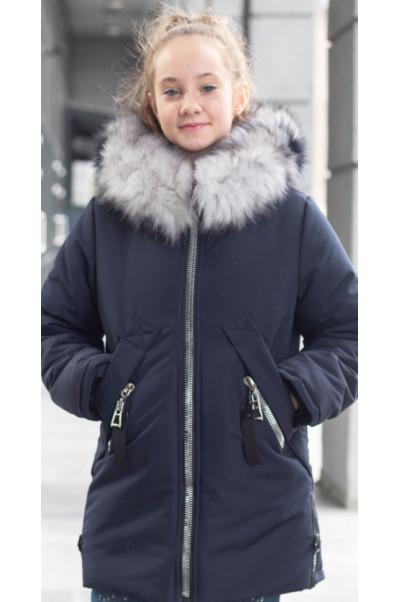 Зимняя куртка ЛИ-ЭНН д/дев. (джинс)