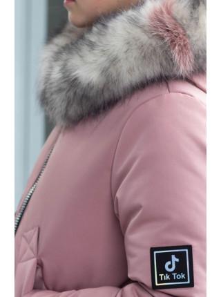 Зимняя куртка ЛИ-ЭНН д/дев. (пудра)