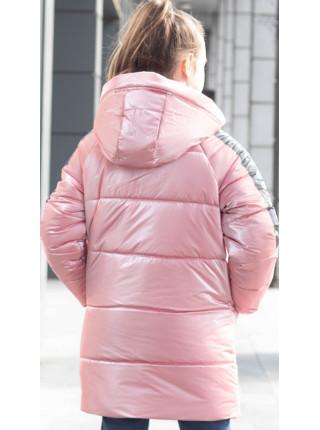 Зимняя куртка БАРХАТ д/дев. (розовый)