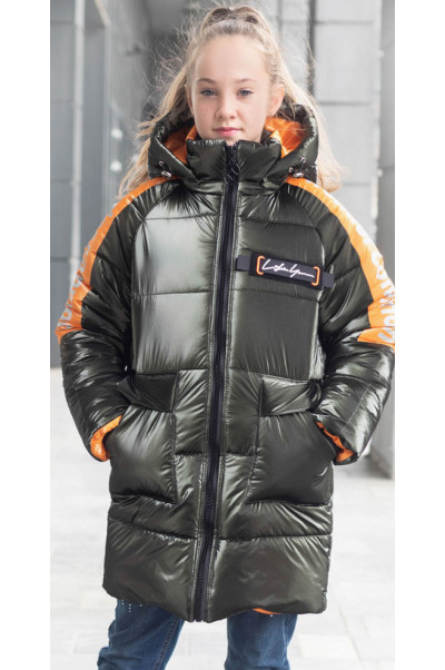 Зимняя куртка БАРХАТ д/дев. (графит)