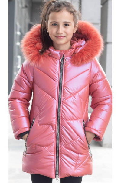 Зимняя куртка ПЕРЛА д/дев. (ярко-розовый)