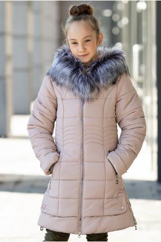 Зимняя куртка ИРМА д/дев. (бежевый)