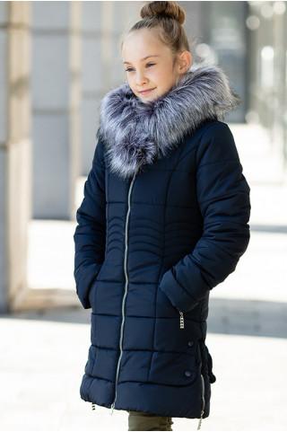 Зимняя куртка ИРМА д/дев. (т.синий)