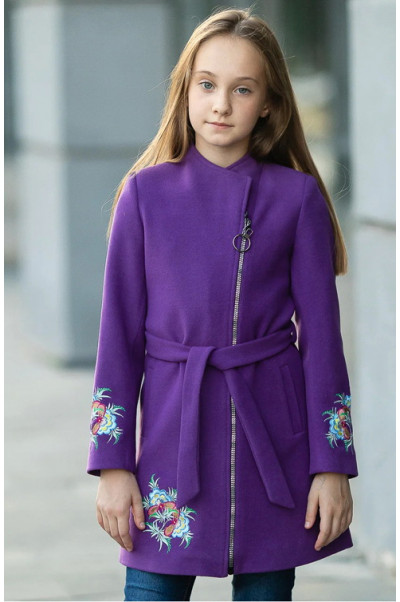 Пальто КОРА демисезонное (фиолетовый)