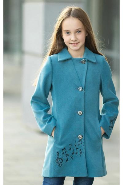 Пальто НОТТА демисезонное (бирюзовый)