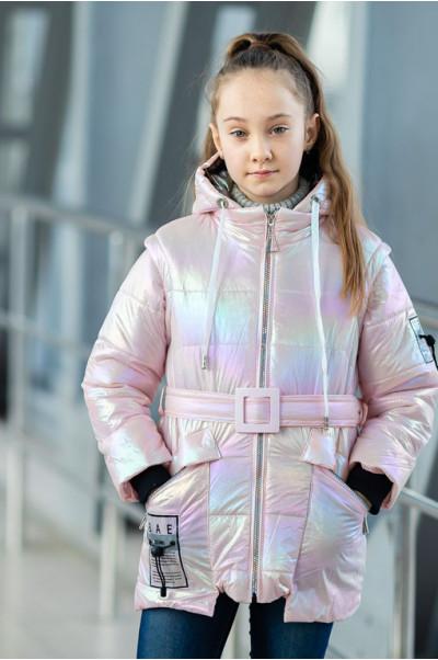 Куртка РАДУГА демисезонная (розовый)
