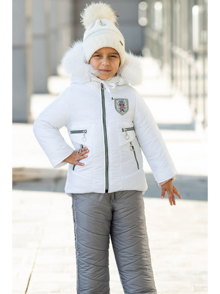 Зимний комплект РИТА д/дев (белый)