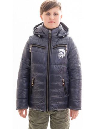 Куртка Декстер демисезонная д/мал (серый металлик)