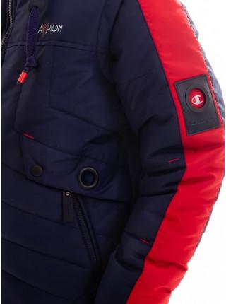 Куртка Саммер демисезонная д/мал (синий/красный)