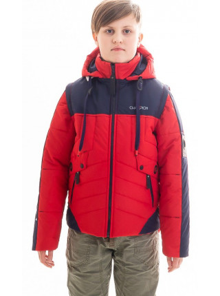 Куртка Саммер демисезонная д/мал (красный/синий)